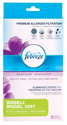 Febreze Bissell Bag 3267 Replacement Vacuum Bag, 3-Pack (Bissel Bag 3267 compare prices)