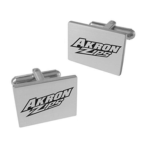 Akron Zips Stainless Steel Cufflinks