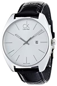 Calvin Klein K2F21120 - Reloj de caballero de cuarzo, correa de piel color negro