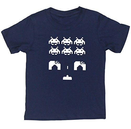 HippoWarehouse SPACE INVADERS kids short sleeve t-shirt