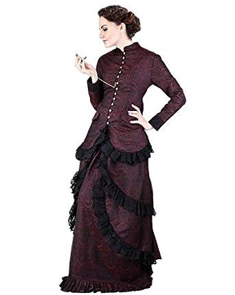 Steampunk Victorian Brocade Dinner Dress  AT vintagedancer.com