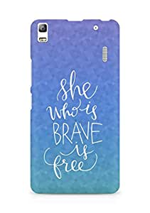 AMEZ she who is brave is free Back Cover For Lenovo K3 Note