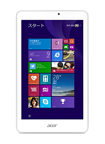 Acer タブレット Iconia Tab 8 W (Win8.1withBing/8インチ/Atom Z3735G/1GB/32GB eMMC) W1-810-F11N