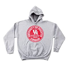 NCAA Houston Cougars 50 50 Blended 8-Ounce Vintage Circle Hooded Sweatshirt,... by SDI