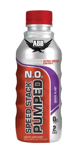 ABB Performance Speed Stack Pumped N.O., Grape Blast, 22-Ounce Bottles (Pack of 20)