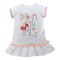 Babeez Baby Girl Dress with Print & Sequence