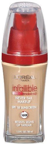 L'Oreal Paris Infallible Advanced Never Fail Makeup, Buff Beige, 1.0 Ounces
