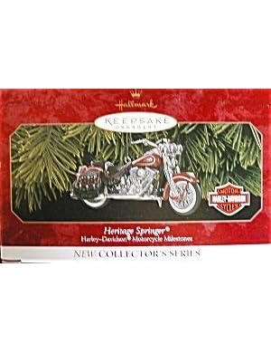 Heritage Springer - Harley-Davidson Motorcyle Milestones - Hallmark Keepsake Ornament - 1999