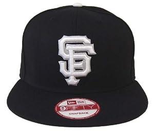 San Francisco Giants Retro New Era White Logo Snapback Cap Hat All Black