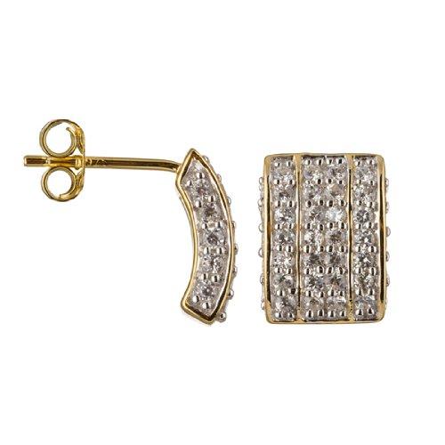 Imagen 2 de Alvina ZO-5887-GOLD - Pendientes de mujer de plata de ley con circonitas