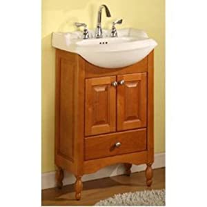 Windsor 22 Narrow Depth Bathroom Vanity Base Base Finish Light Cherry
