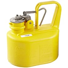 "Eagle 1508 Laboratory Safety Can, Polyethylene, 6"" Width x 9-1/2"" Height x 8-1/2"" Depth, 1/2 Gallon Capacity, Yellow"