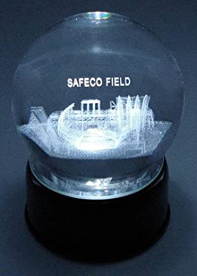 Seattle Mariners Safeco Field Laser-Etched Musical Crystal Ball