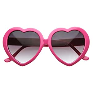 pink heart shaped glasses