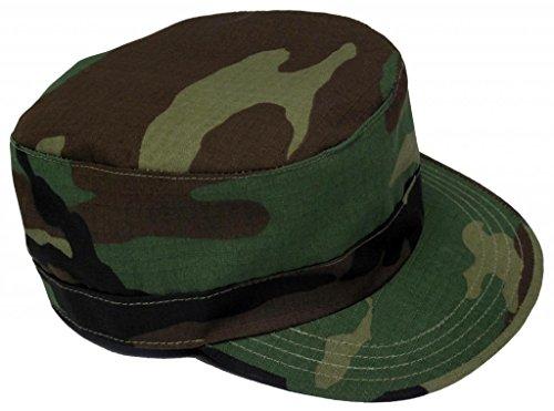 Mafoose Adjustable Military Fatigue Patrol Cap Woodland Camo
