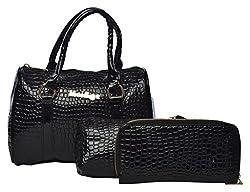 Cuddle Women's Handbag (Combo of 3 Black)