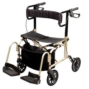 Ultra Ride Rollator Walker And Transport Chair - - Each 1 front-849380