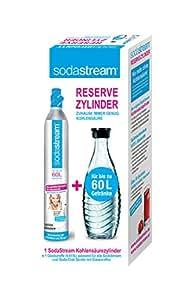 SodaStream Reservepack- 1 x CO2-Zylinder für 60L und 1 x 0,6L Glaskaraffe)