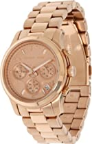 Hot Sale Michael Kors Midsized Chronograph Rose Gold Womens Watch Mk5128