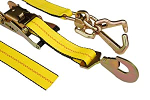 Car Hauler Towing RTJ Ratchet Straps (4 Pack)
