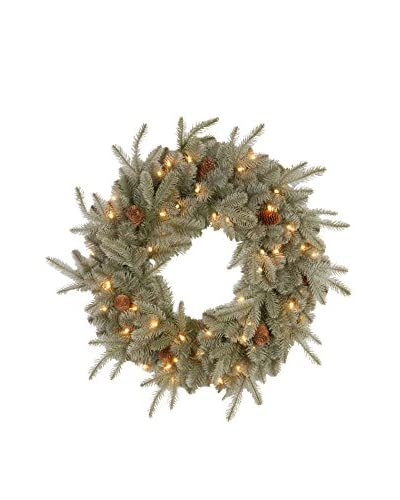 National Tree Company 24 Feel Real Frosted Artic Spruce Wreath