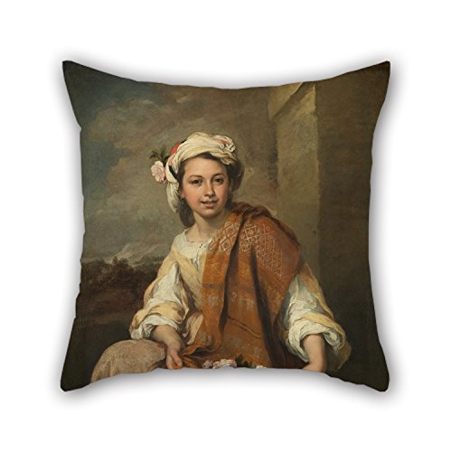 18 X 18 Inches / 45 By 45 Cm Oil Painting Murillo, Bartolomé Estéban - The Flower Girl Cushion Cases ,twice Sides Ornament And Gift To Relatives,valentine,dance Room,boy Friend,wife (Quest Bug Ban compare prices)