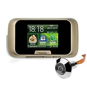 2 8 lcd inteligente puerta mirilla visor digital mirilla - Mirilla puerta digital ...
