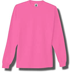 Long Sleeve Bright Neon T-Shirt in 6 Bright Colors