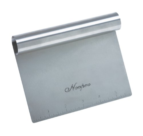 "Norpro Vegetable Chopper Stainless Steel Bench Scraper Measuring Guide 6"" x 4"""