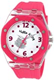 Hello Kitty Women's HWL1377PNK Pink Rubber Strap and Glitter Face Watch