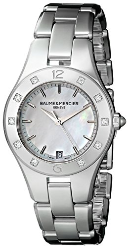 Baume et Mercier Linea Mother of Pearl Stainless Steel Mens Watch MOA10071