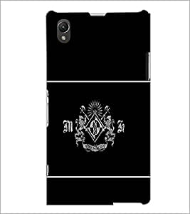 PrintDhaba Logo Pattern D-1363 Back Case Cover for SONY XPERIA Z1 (Multi-Coloured)