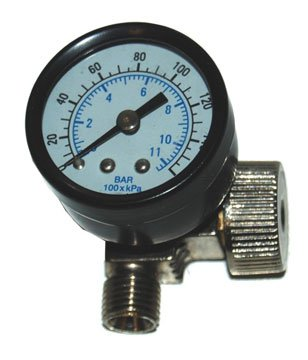 DeVilbiss AIR ADJUSTING VALVE REGULATOR WITH GAUGE 0-160 PSI DEV #802160