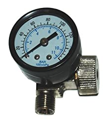 DeVilbiss AIR ADJUSTING VALVE WITH GAUGE 0-160 PSI