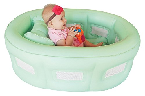 NEW Baby's Room To Grow 14200 Green Inflatable 4-in-1 Bathinet Bassinet w Pump