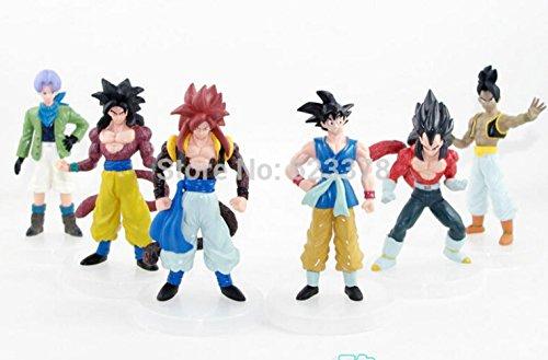 [6pcs/lot dragon ball gt toys Goku Vegeta Buu super saiyan dragon ball z action figures Toy] (Buu Costume)