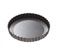 Alda Non Stick Carbon Steel Pie Dish, 20cm, Black