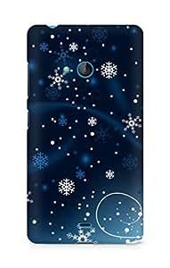 Amez designer printed 3d premium high quality back case cover for Microsoft Lumia 540 (Christmas)