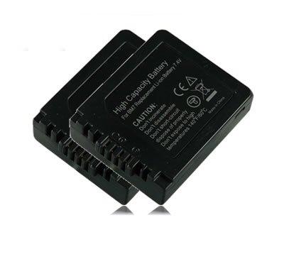 M&L Mobiles® | 2x Akku / Batterie CGA-S002 DMW-BM7 für Panasonic Lumix DMC-FZ15 | DMC-FZ20 | DMC-FC20 | DMC-C20