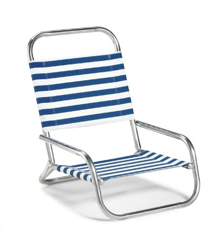 Telescope Casual Sun And Sand Folding Beach Chair, Blue/White Stripe