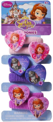 Sofia the First hair ponies with heart motif - 1