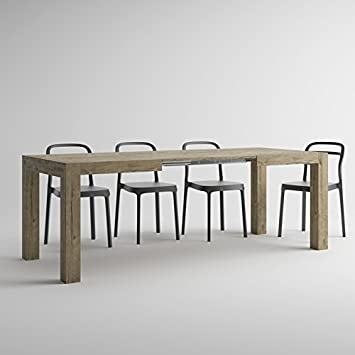 EXTENDABLE PULL-OUT DINING TABLE SHERWOOD OAK IACOPO