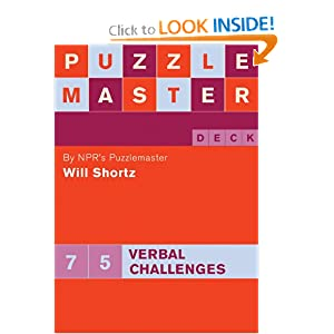 Puzzlemaster: Deck Verbal Challenges (Puzzlemaster Deck) Will Shortz