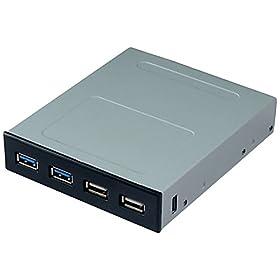 アイネックス 3.5インチベイ USB3.0/2.0フロントパネル PF-004A