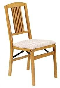 simple mission wood folding chair oak set of
