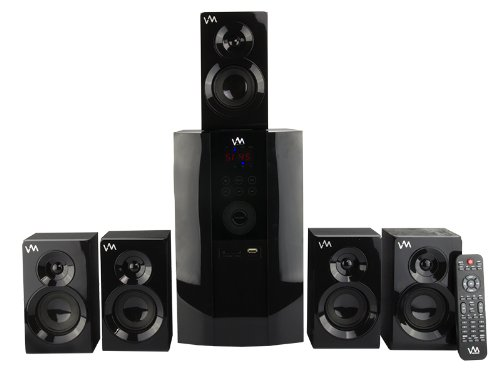 VM Audio EXMS590T 800W 5.1 Home Multi Media Surround Sound Speakers System USB