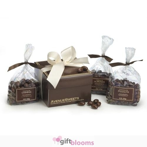 Chocolate Covered Nuts Gift Box