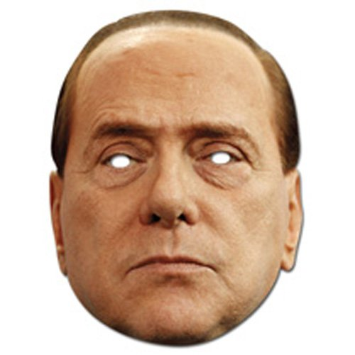Silvio Berlusconi Celebrity Face Card Mask, Mask-arade,Impersonation/Fancy Dress