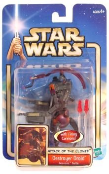 DESTROYER DROID GEONOSIS BATTLE with FIRING CANNONS Star Wars Attack of the Clones Action Figure & Accessories
