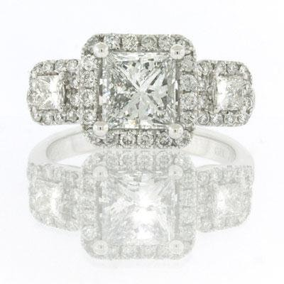 2.71ct Princess Cut Diamond Engagement Anniversary